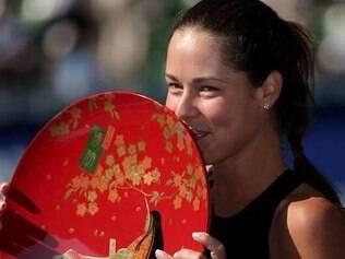 Ana Ivanovic comemorou muita a conquista em Tóquio em suas redes sociais