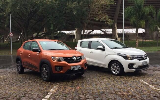 Renault Kwid e Fiat Mobi dominam o segmento pelo ranking de vendas. Mas o VW Up! tem mais atributos que ambos