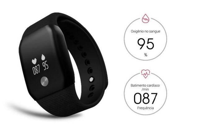 Um dispositivo wearable, como o Smartband A88+, vendido pela Squalo, serve como uma extensão para o corpo humano