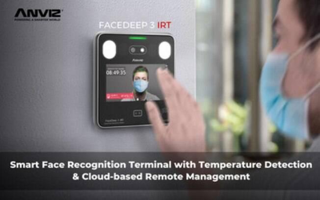 Lançamento Anviz - Terminal de Reconhecimento Facial touchless FaceDeep 3 e Plataforma de nuvem CrossChex Cloud.