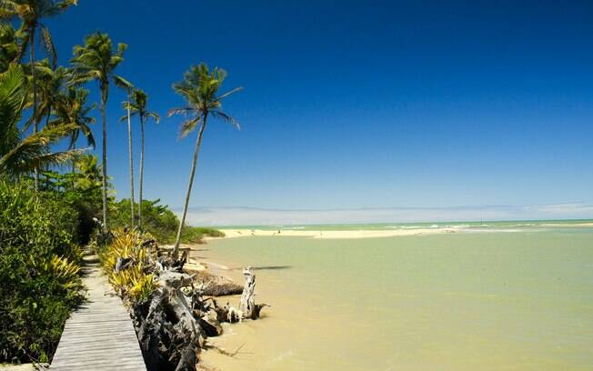 A bela paisagem que Caraíva oferece