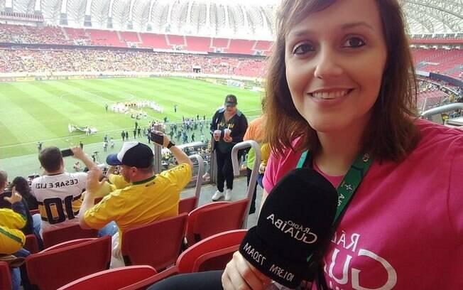 Repórter Camila Diesel relatou caso de assédio em jogo do Inter