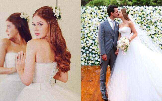 O casamento de dia de Marina Ruy Barbosa com Alexandre Negrão foi luxuoso e o vestido da noiva chamou atenção