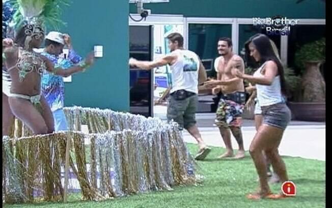 Brothers se animam com samba da Beija-Flor