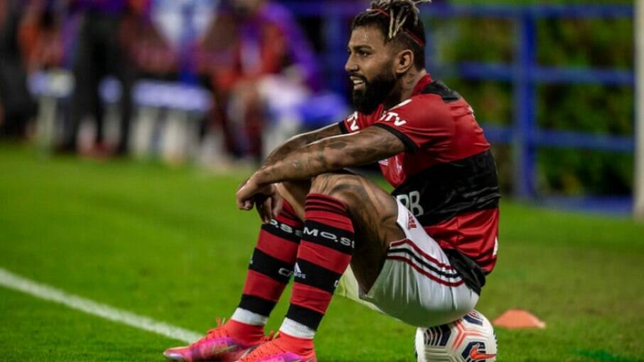 Gabigol desfalca o Flamengo contra o Palmeiras
