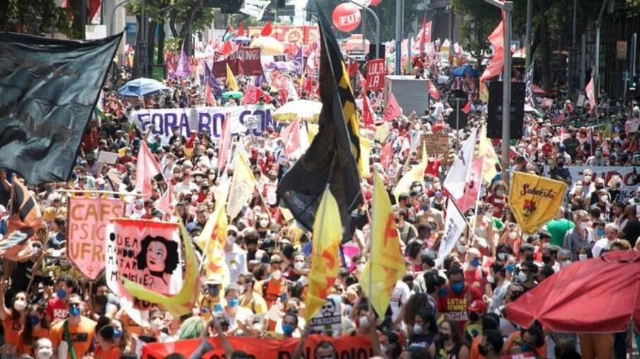 Registro da manifestação no Rio de Janeiro