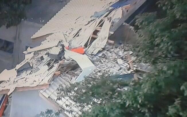 Helicóptero que matou cinco pessoas, entre elas o filho caçula de Alckmin, caiu em um condomínio na Grande São Paulo . Foto: Reprodução/TV Globo