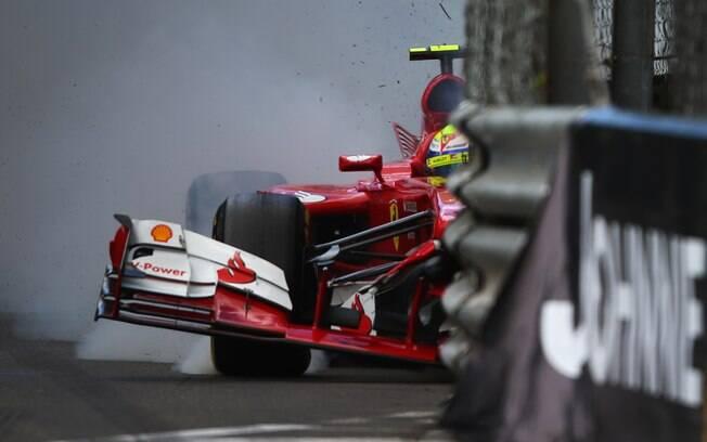 Com a batida, Massa perdeu o treino  classificatório e largou nas últimas posições no  GP de Mônaco