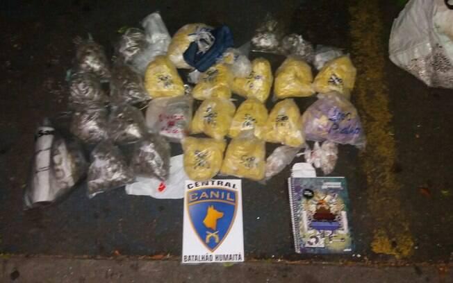 Canil Central, do Batalhão de Choque da PM, apreendeu pacotes com cocaína, maconha, crack, ecstasy e LSD