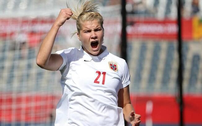 Ada enquanto ainda defendia a seleção da Noruega