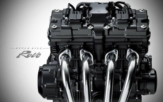 Motor de quatro cilindros em linha já equipa a CB 400 Super Four