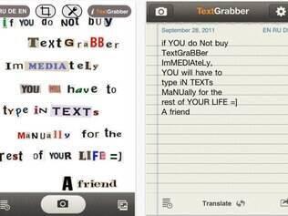 Aplicativo reconhece caracteres de textos com auxílio de foto tirada com iPhone