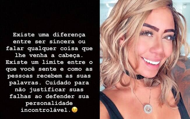 Rafaella Santos faz desabafo nas redes sociais