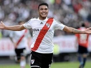 Teo Gutierrez foi campeão da Copa Sul-Americana 2014 com o River Plate
