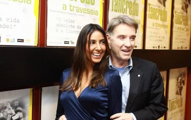 Flávia Sampaio ao lado do namorado, o empresário Eike Batista