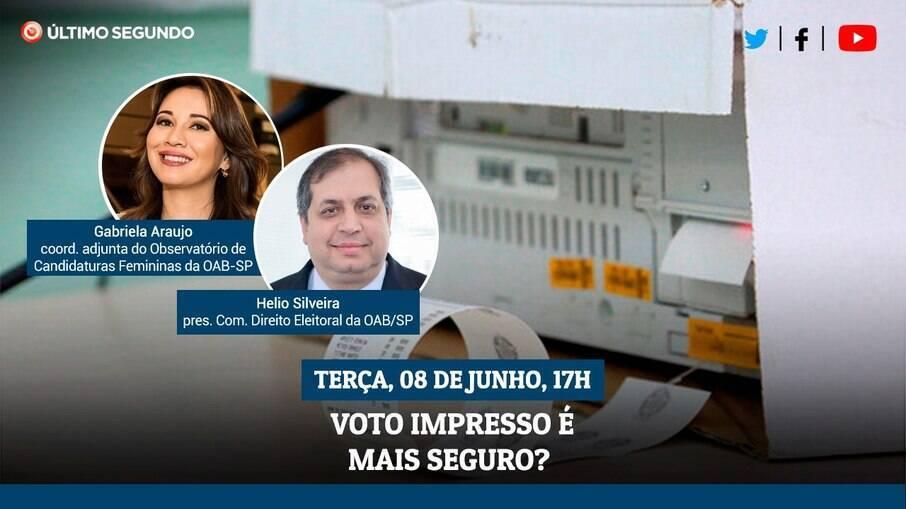 Live Em Cima do Fato discute a segurança do voto impresso