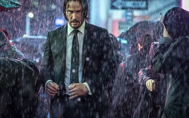 Keanu Reeves em cena de John Wick 3