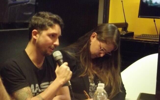 Fabrice Condominas, um dos produtores de Mass Effect: Andromeda fala sobre o game em evento na Livraria Cultura, em São Paulo