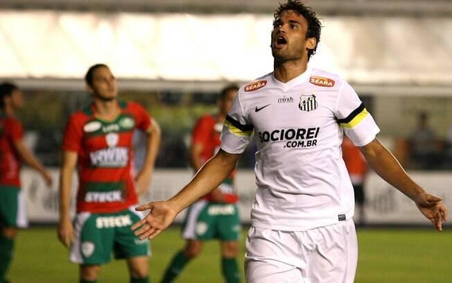 Willian José marcou para o Santos contra a  Portuguesa