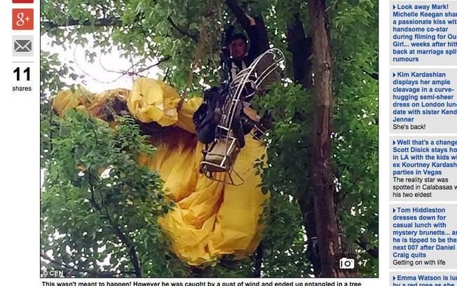 Chinês ficou horas preso em uma árvore depois de pedido de casamento fracassado