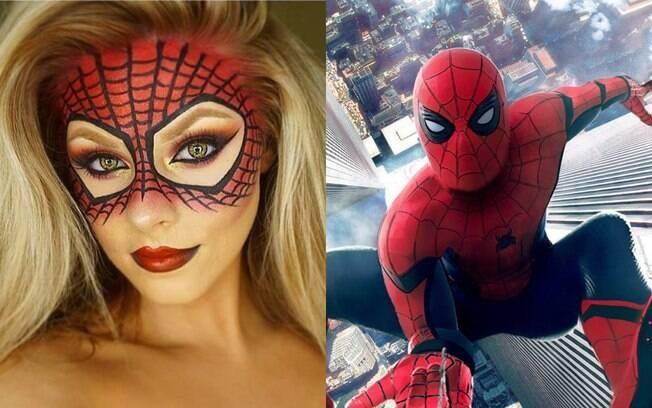 Maquiagem de Homem-Aranha