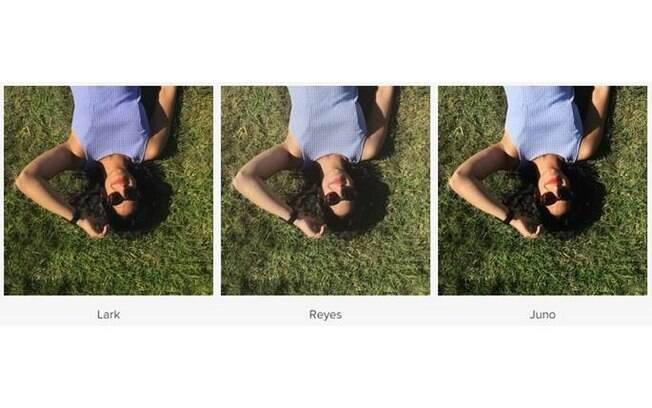 Além dos emojis, o Instagram apresentou três novos filtros: Lark, Reyes e Juno. O aplicativo é gratuito para Android e iOS e ainda está na versão beta para Windows Phone
