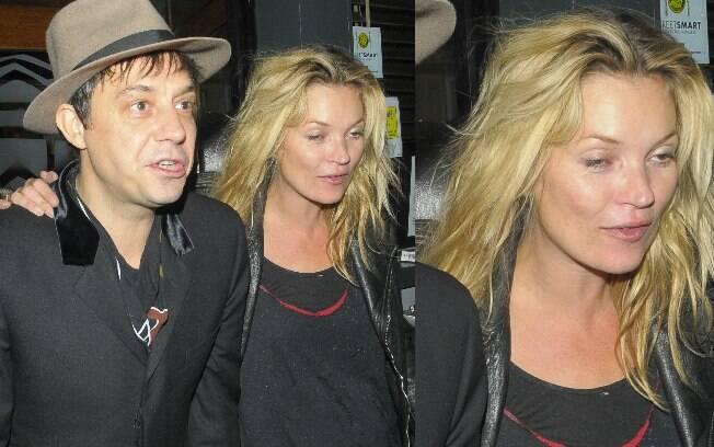 Kate Moss saiu da balada apoiada em seu marido