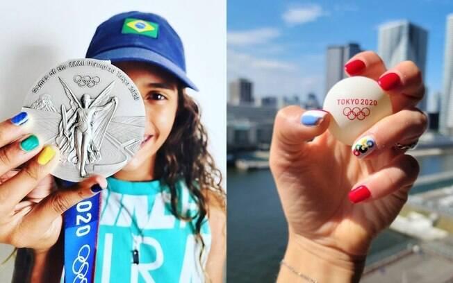 Unhas olímpicas: confira as atletas que arrasaram com as nail arts