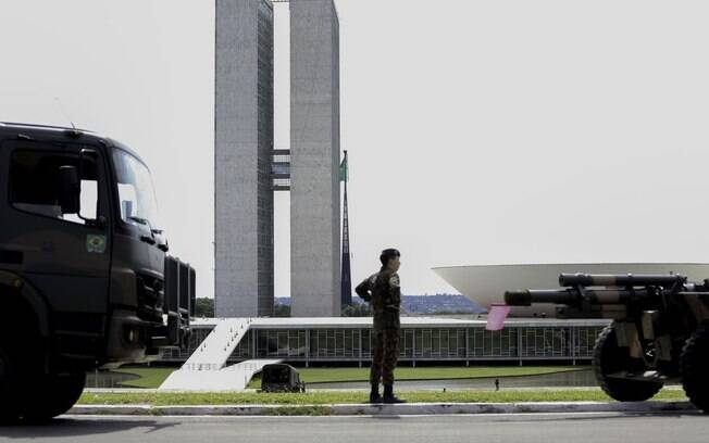 Ensaio para posse de Bolsonaro foi realizado no último fim de semana na Esplanada dos Ministérios