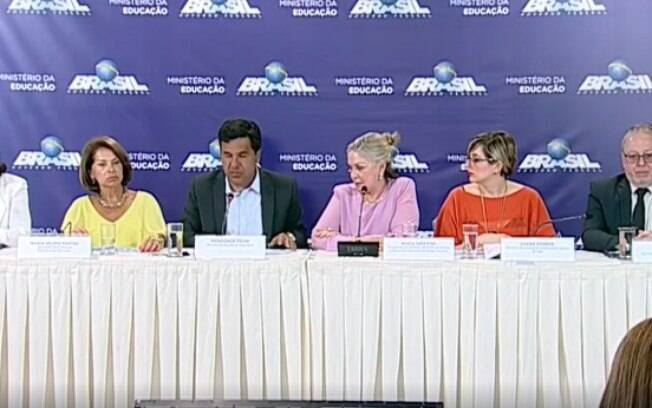 Coletiva de imprensa com a presidente do Inep, Maria Inês Fini, e o ministro da Educação, Mendonça Filho