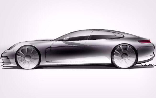 Porsche revela esboço oficial da nova geração do Panamera