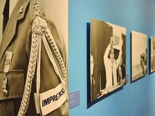 """Percurso. Mostra apresenta obras, como """"Língua Apunhalada"""", de Lygya Pape, e outras fotografias seguidas de linha do tempo que as contextualiza"""
