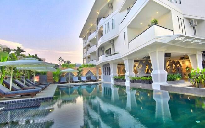 O Central Suite Residence é um hotel estrelas que fica em Siem Reap, em Camboja, um dos países que mais aparece aqui