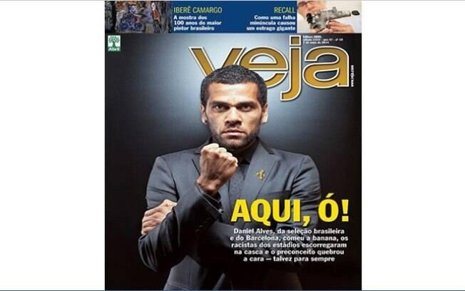 Daniel Alves na capa da revista Veja