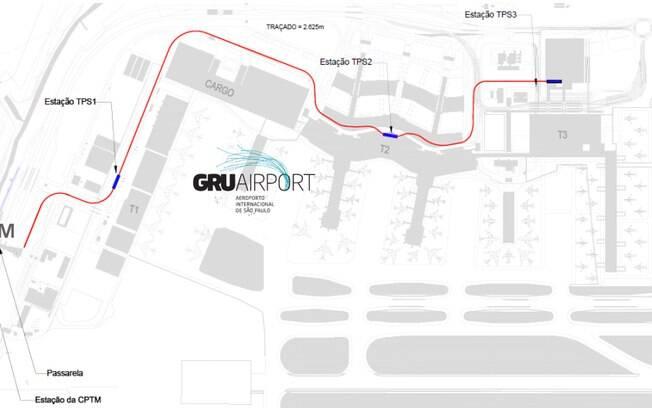 Nova linha vai interligar estações da CPTM ao aeroporto de Guarulhos