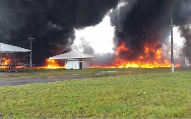 Acidente explosão rio de janeiro caminhões