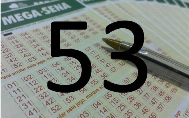 O 53 saiu em 186 sorteios da loteria