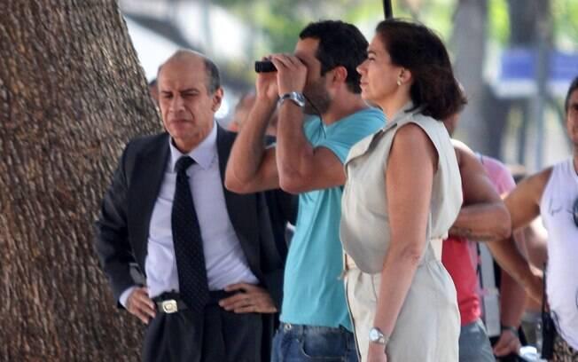 Quem também esteve nas gravações foi Lília Cabral e Malvino Salvador
