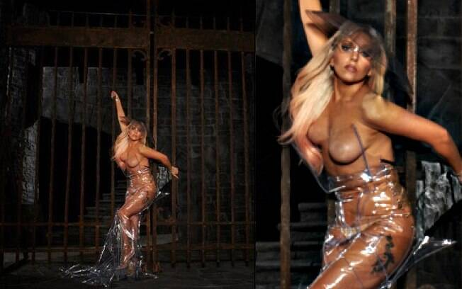 Lady Gaga: topless para divulgar turnê