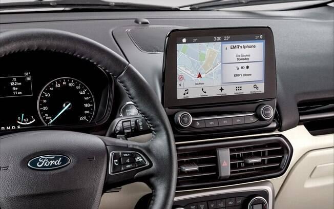 Antes disponível nas linhas Freestyle de EcoSport e Ka, a Ford passou a optar pelo sistema Sync 2.5