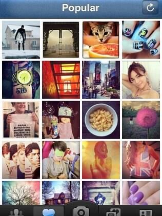 Instagram tem área que reúne fotos mais populares