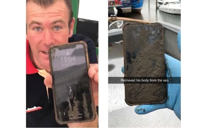 iPhone X ainda funcionava após seis dias no fundo do mar