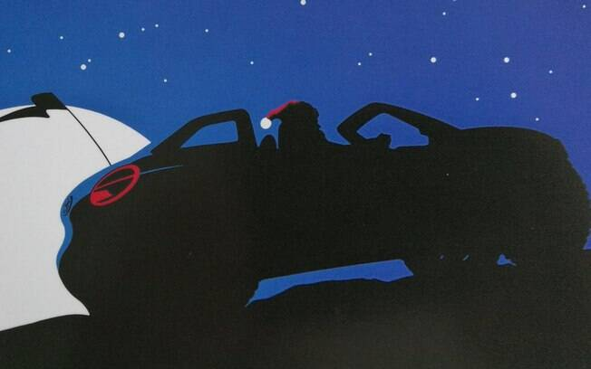 A imagem do bugue da VW foi enviada para a imprensa europeia em um cartão natalino, desejando boas festas