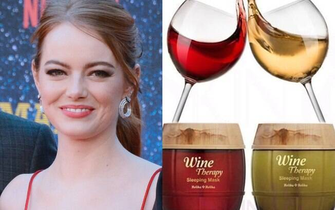 Emma Stone e Wine Therapy Sleeping Mask
