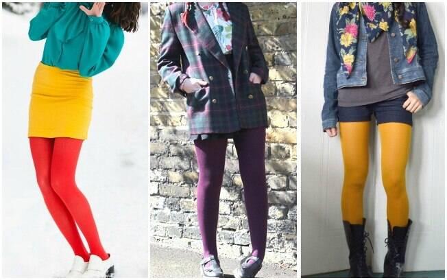 Meia-calça: colorida