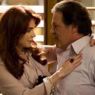 Em 'Amor à Vida' Françoise Forton é Gigi, a amante trambiqueira de Atílio (Luís Mello)