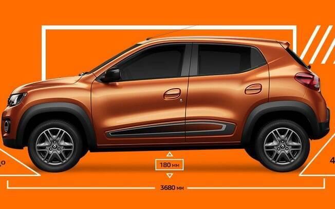 Compacto e versátil, o Renault Kwid tem a concepção de um carro de baixo custo para o mercado brasileiro
