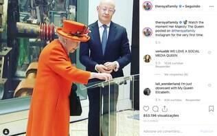 Rainha Elizabeth publica foto no Instagram pela primeira vez