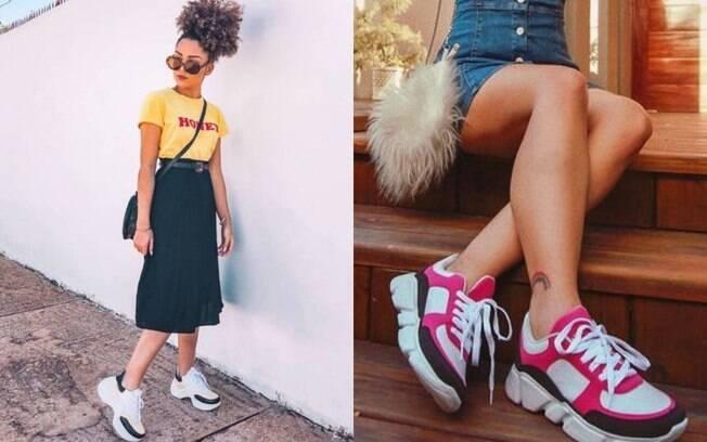 Os daddy sneakers são uma das tendências que estão bombando há algum tempo e devem aparecer no Lollapalooza