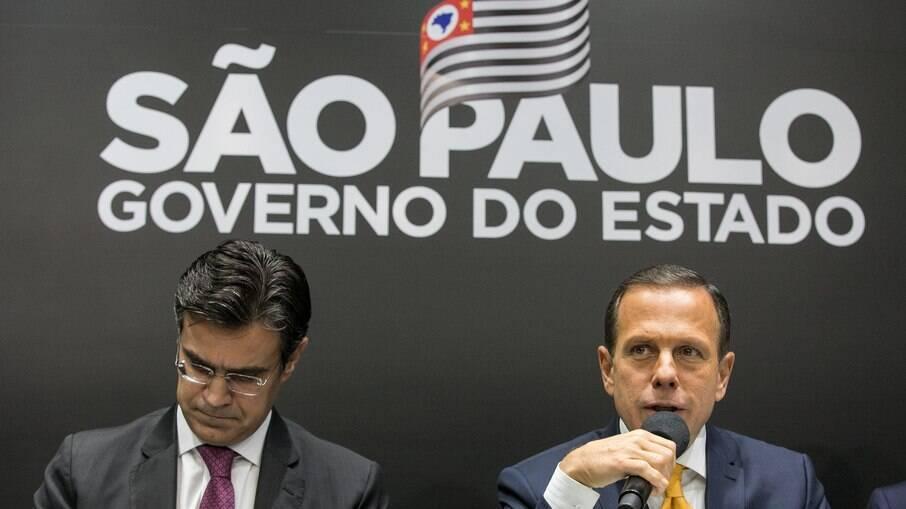João Doria (PSDB) e o vice-governador Rodrigo Garcia